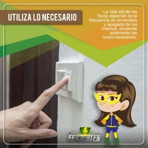 Utiliza lo necesario, consejos de ahorro energético